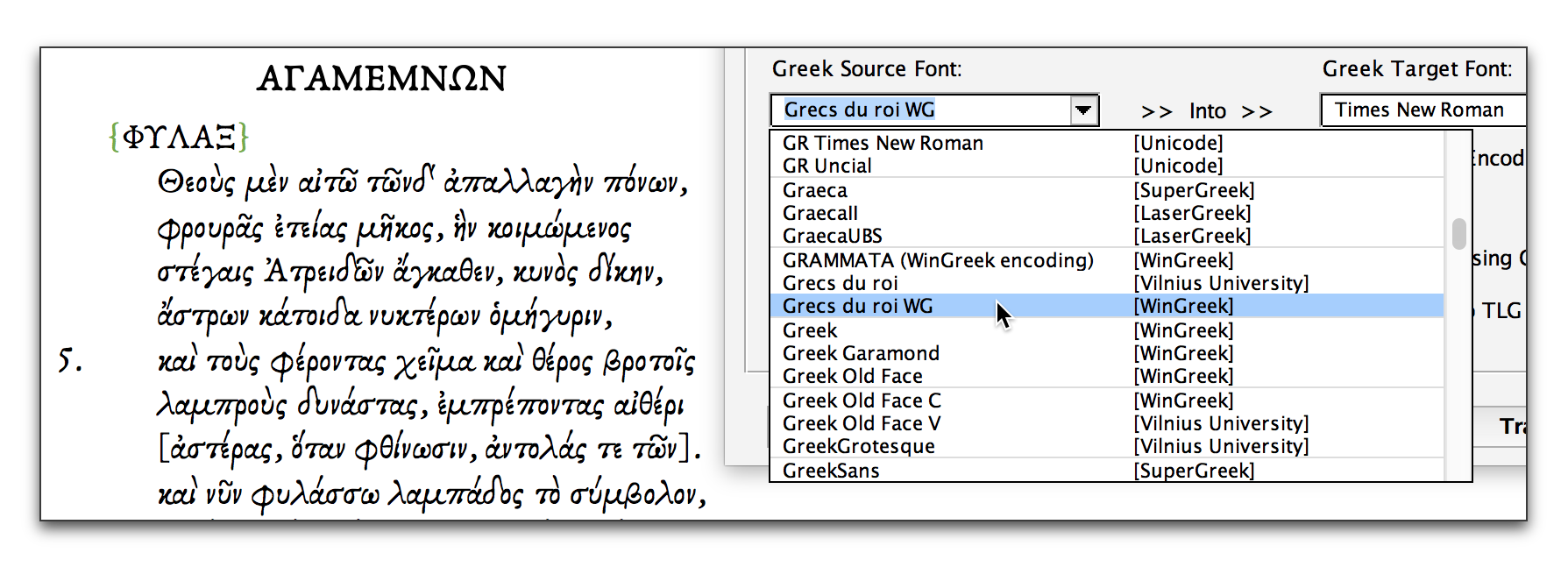 Greektranscoder For Microsoft Word